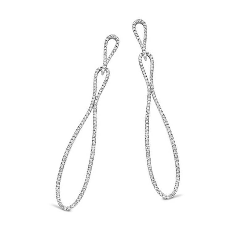 925 Sterling Silver cubic infinity earrings