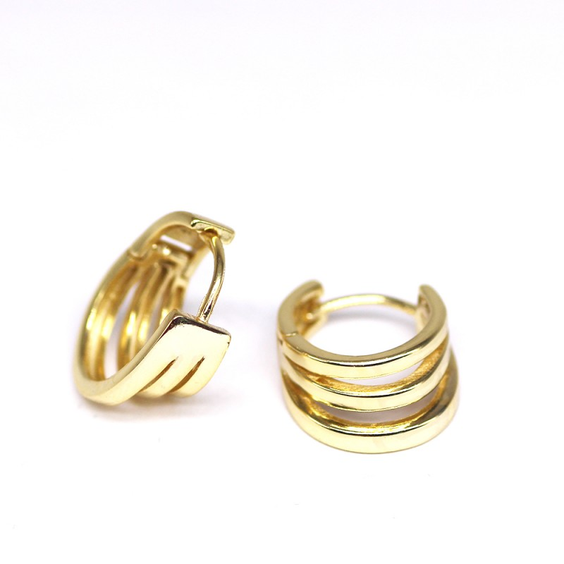 925 Sterling Silver plain hoop earrings