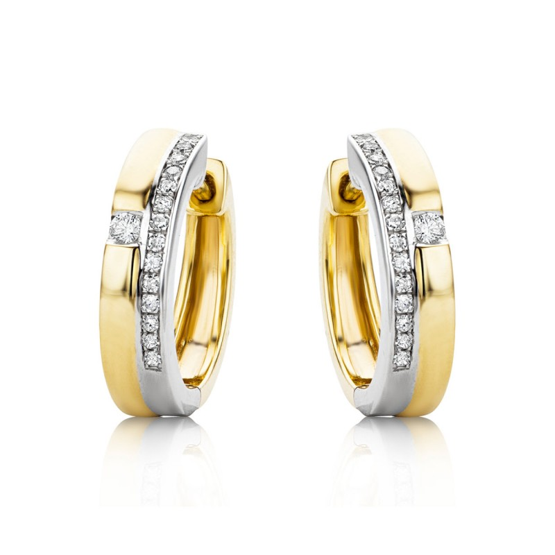 925 Sterling Silver zircon hoop earrings