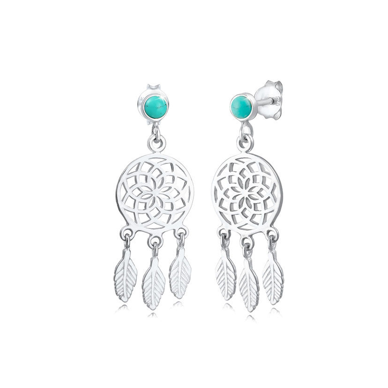 925 Sterling Silver dream catcher earrings