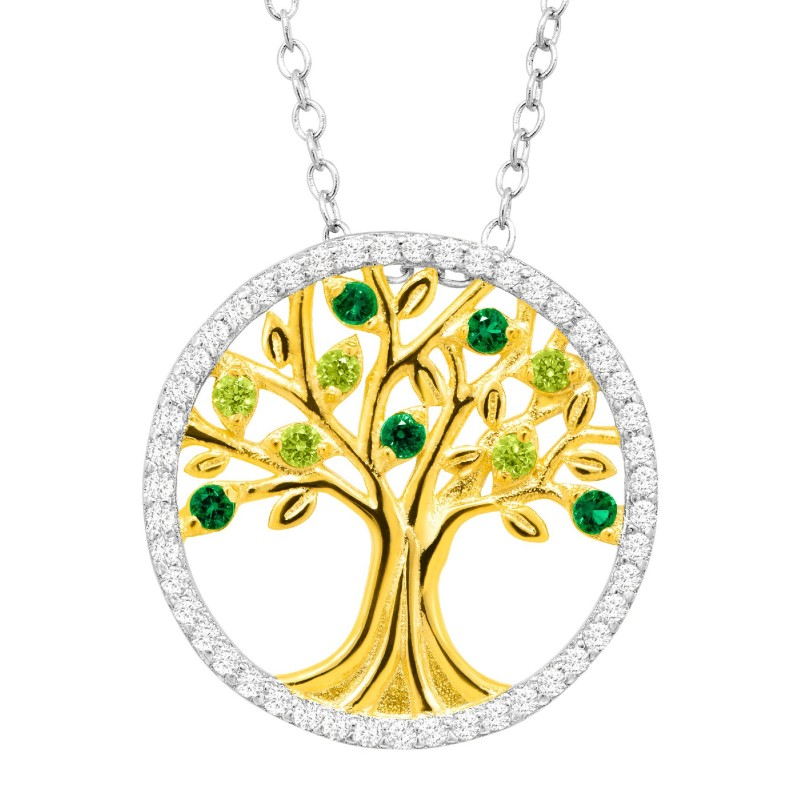 925 Sterling Silver tree of love necklace