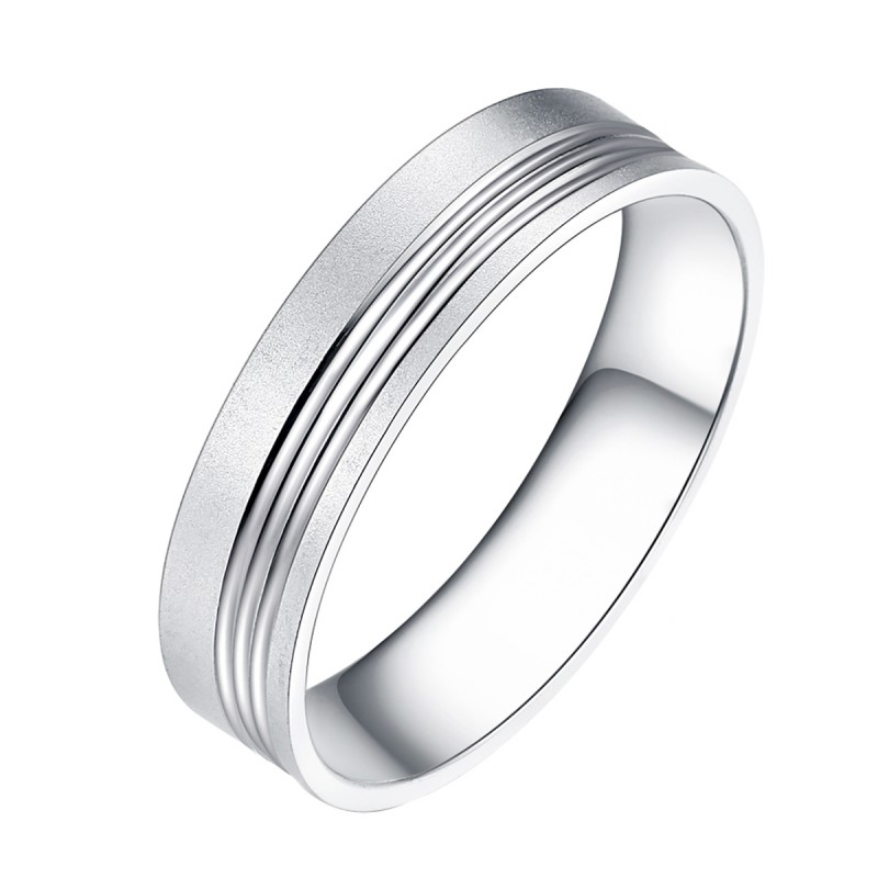 Finefey 925 Sterling Silver Classic Band Ring For ...
