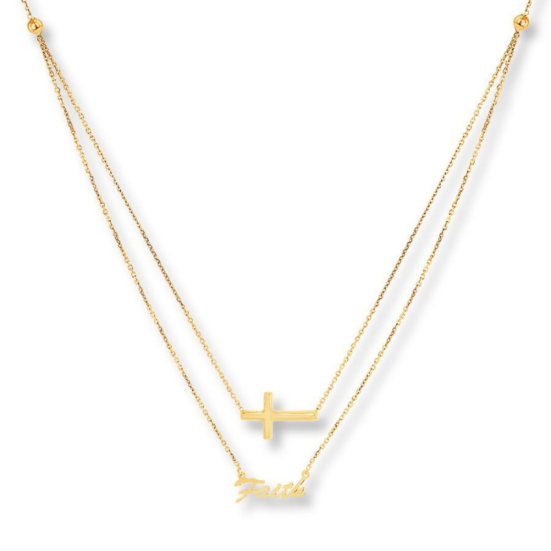 FINEFEY Sterling Silver Gold Plated Cross & Fa...