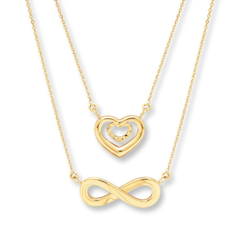 FINEFEY Sterling Silver Gold Plated Heart & In...